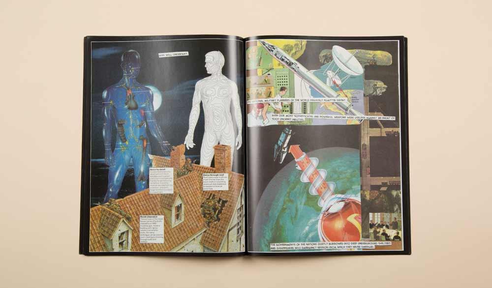 Universe War collage graphic novel