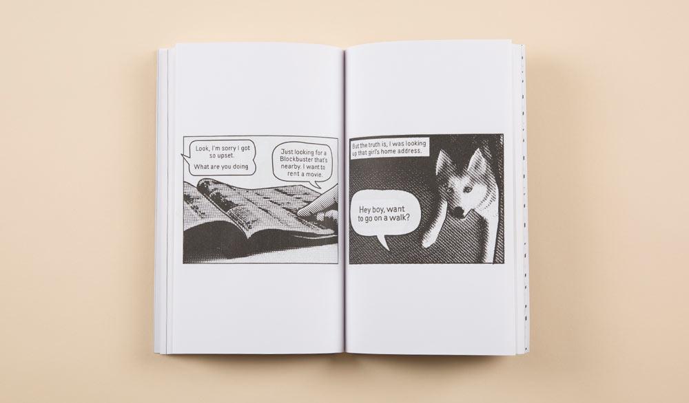 Collage comic book