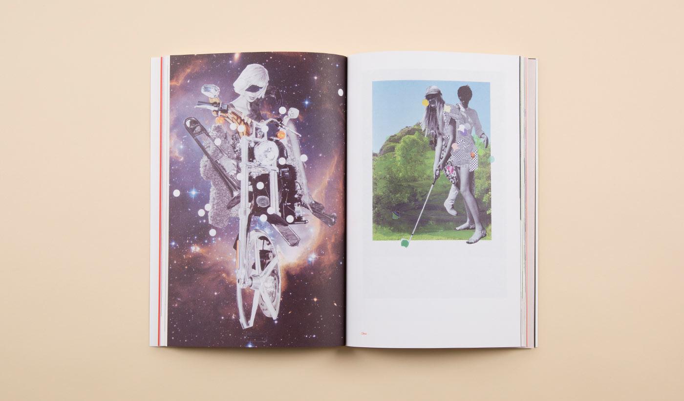 Weird collage art book
