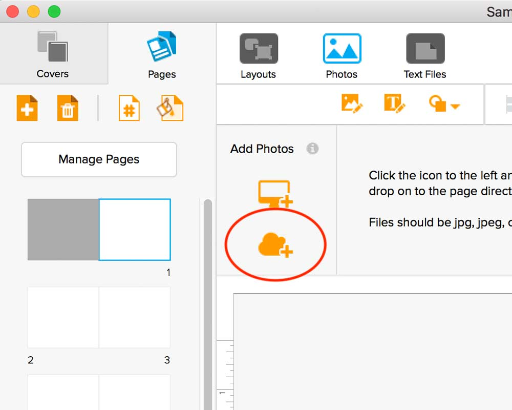 Step 1: Click on the Cloud Icon